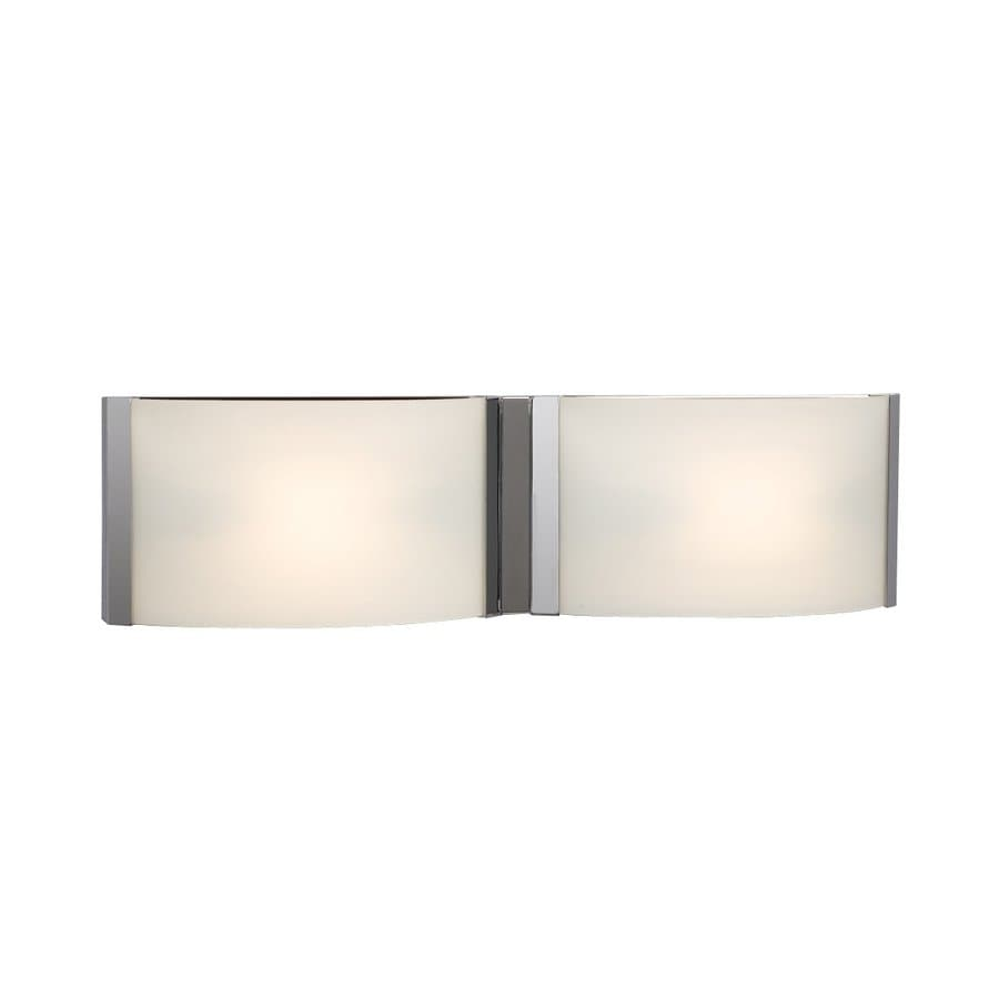 Galaxy Triton 2-Light 5-in Chrome Rectangle Vanity Light Bar