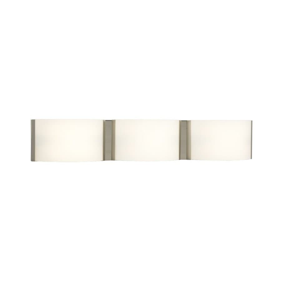 Galaxy Triton 3-Light 5-in Brushed nickel Rectangle Vanity Light Bar
