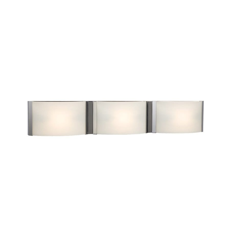 Galaxy Triton 3-Light 5-in Chrome Rectangle Vanity Light Bar