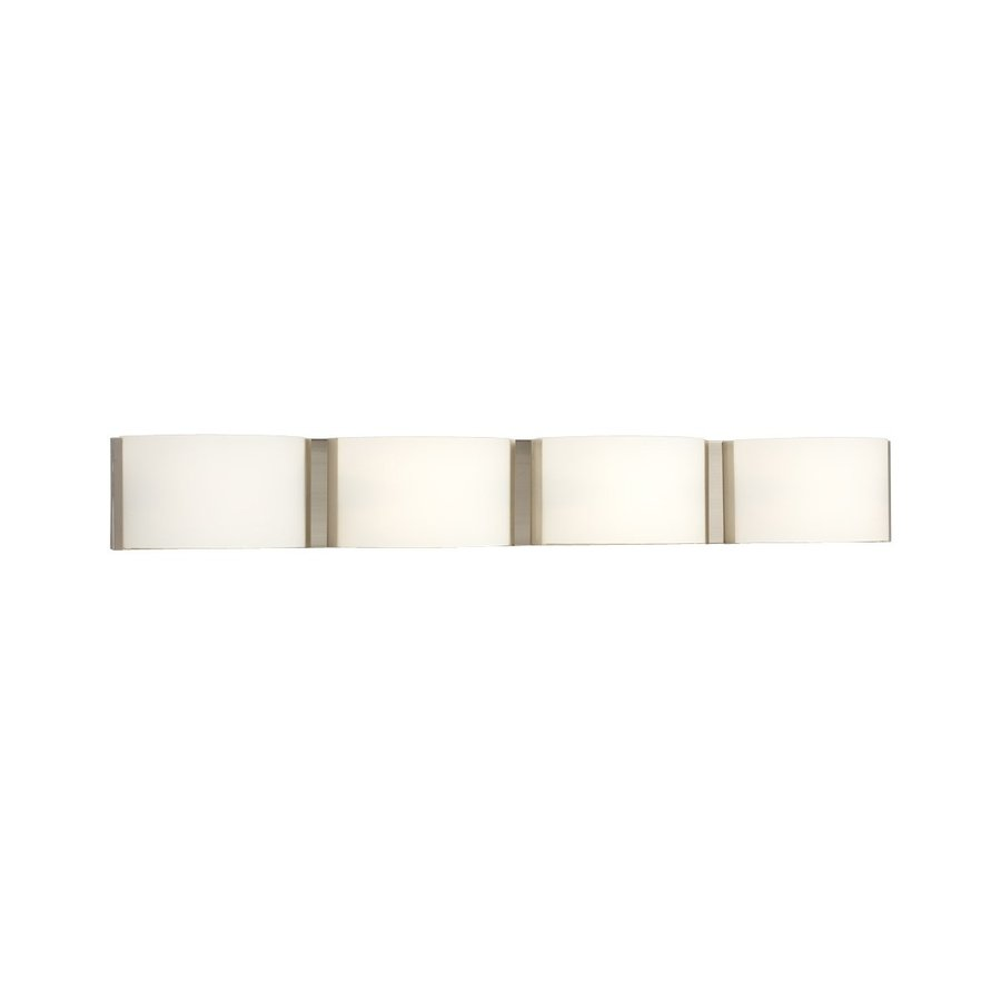 Galaxy Triton 4-Light 5-in Brushed Nickel Rectangle Vanity Light Bar