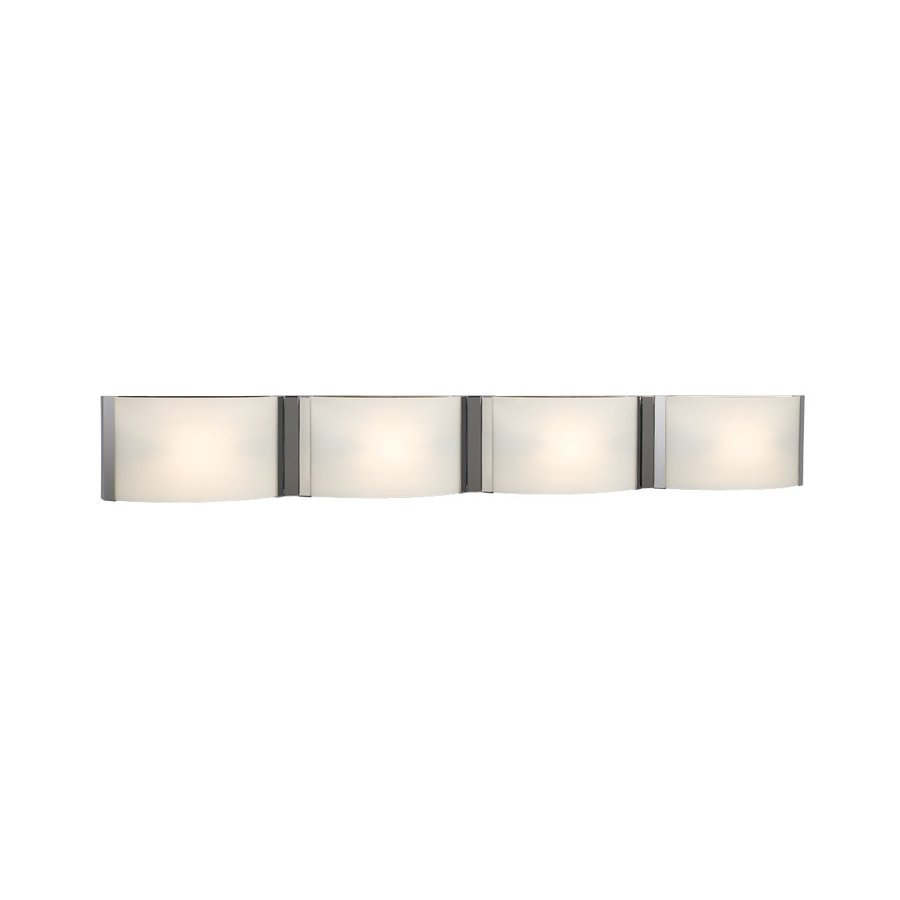 Galaxy Triton 4-Light 5-in Chrome Rectangle Vanity Light Bar