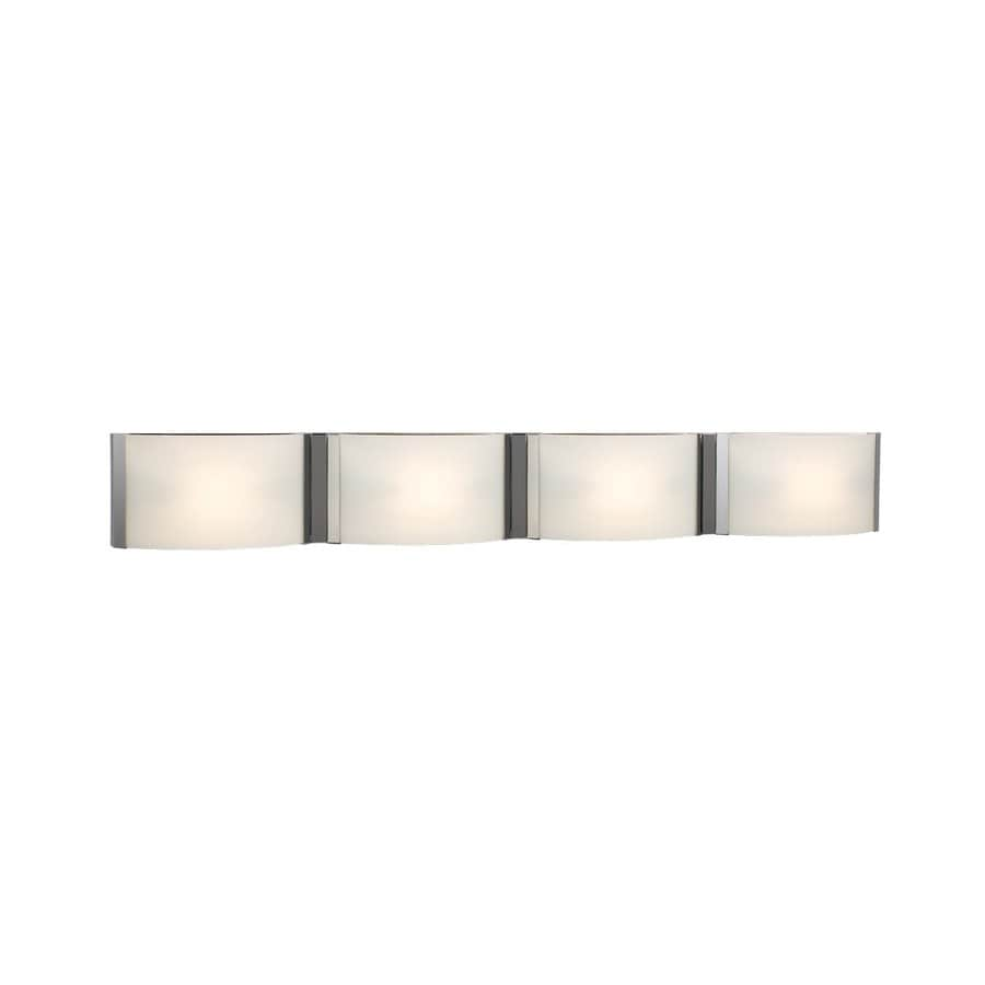 Galaxy Triton 4 Light 5 In Chrome Rectangle Vanity Light Bar