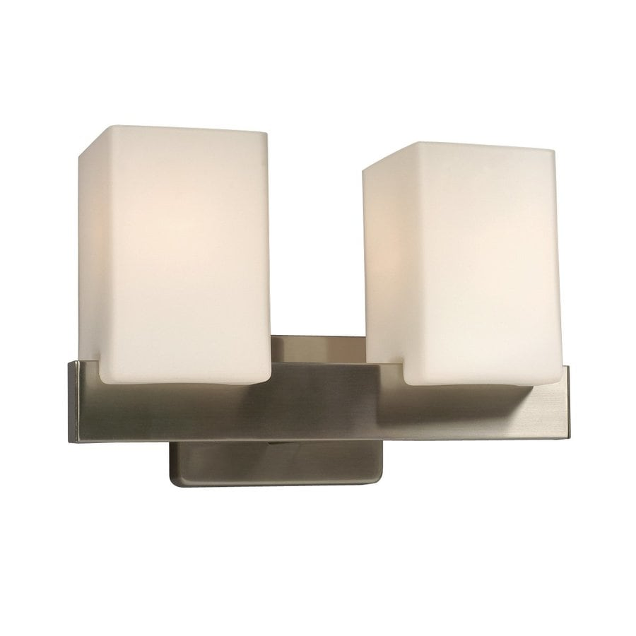Galaxy Newport 2-Light 8.375-in Brushed Nickel Rectangle Vanity Light
