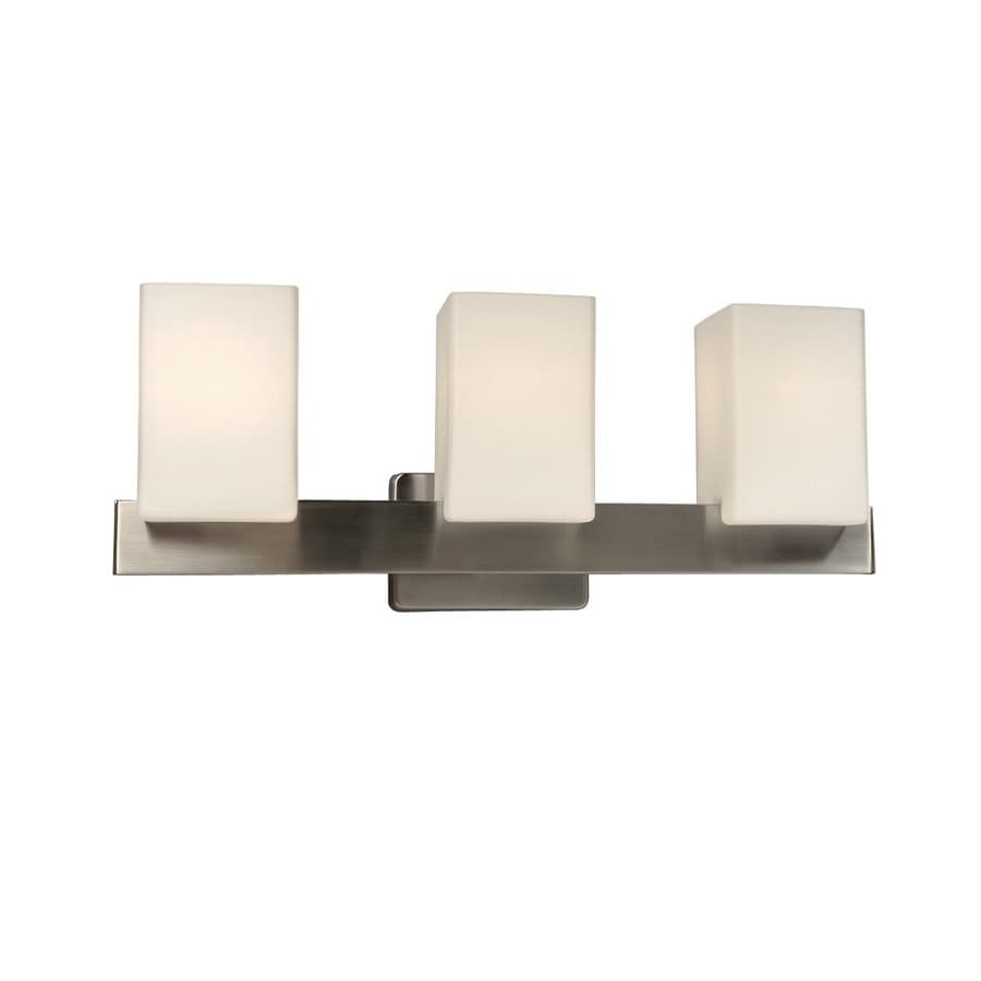 Galaxy Newport 3-Light 8.37-in Brushed Nickel Rectangle Vanity Light