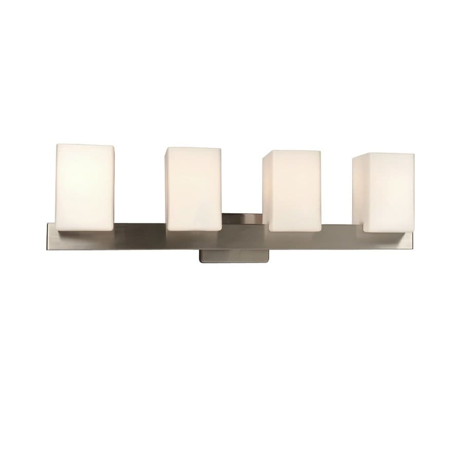 Galaxy Newport 4-Light 8.37-in Brushed Nickel Rectangle Vanity Light