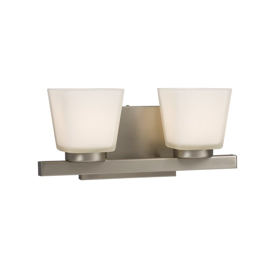 Galaxy Carmen 2-Light 5.5-in Brushed nickel Square Vanity Light