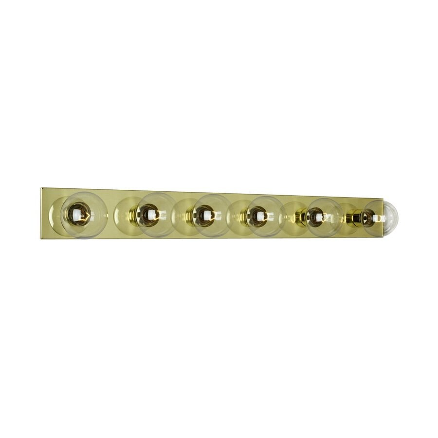 Shop Galaxy 6-Light 4.25-in Polished Brass Vanity Light Bar at Lowes.com
