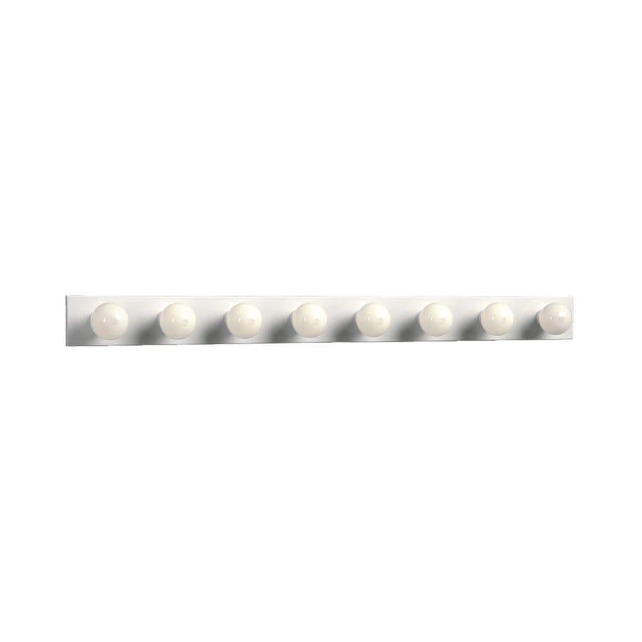 Galaxy 8-Light 4.25-in White Vanity Light Bar