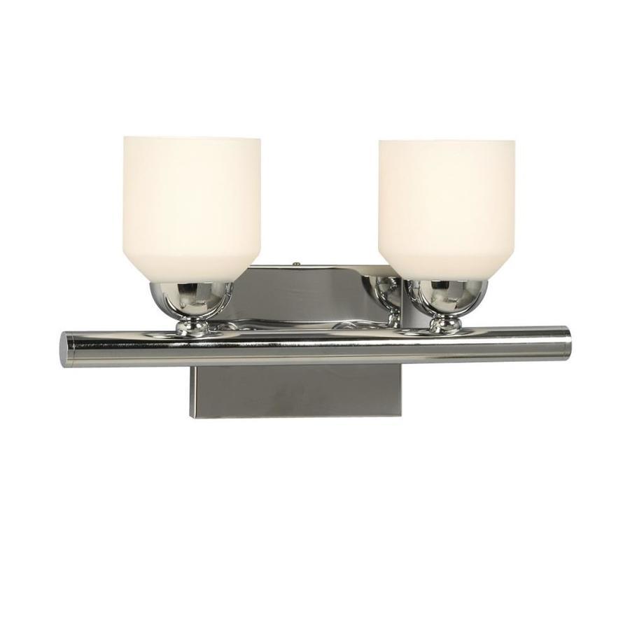 Shop galaxy 2 light soho polished chrome standard bathroom - Polished chrome bathroom lighting ...