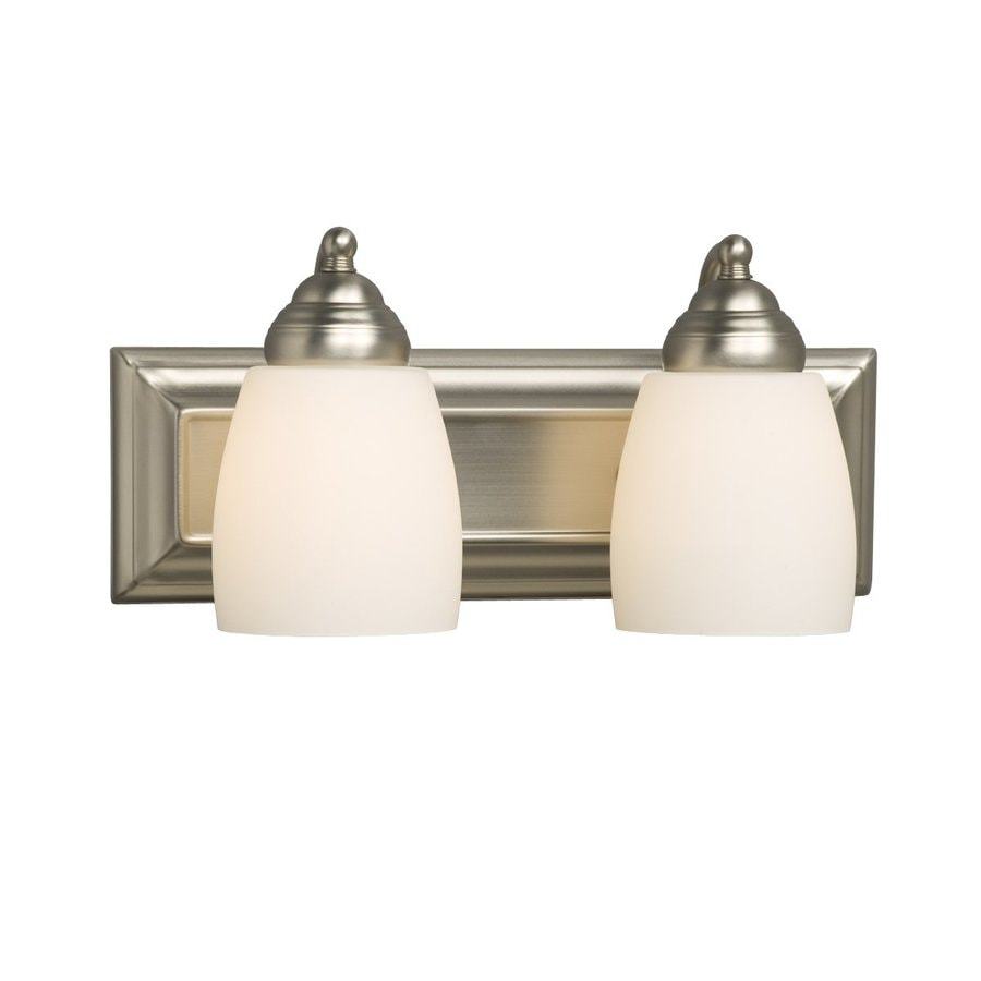 Galaxy Barclay 2-Light 6.75-in Brushed nickel Bell Vanity Light