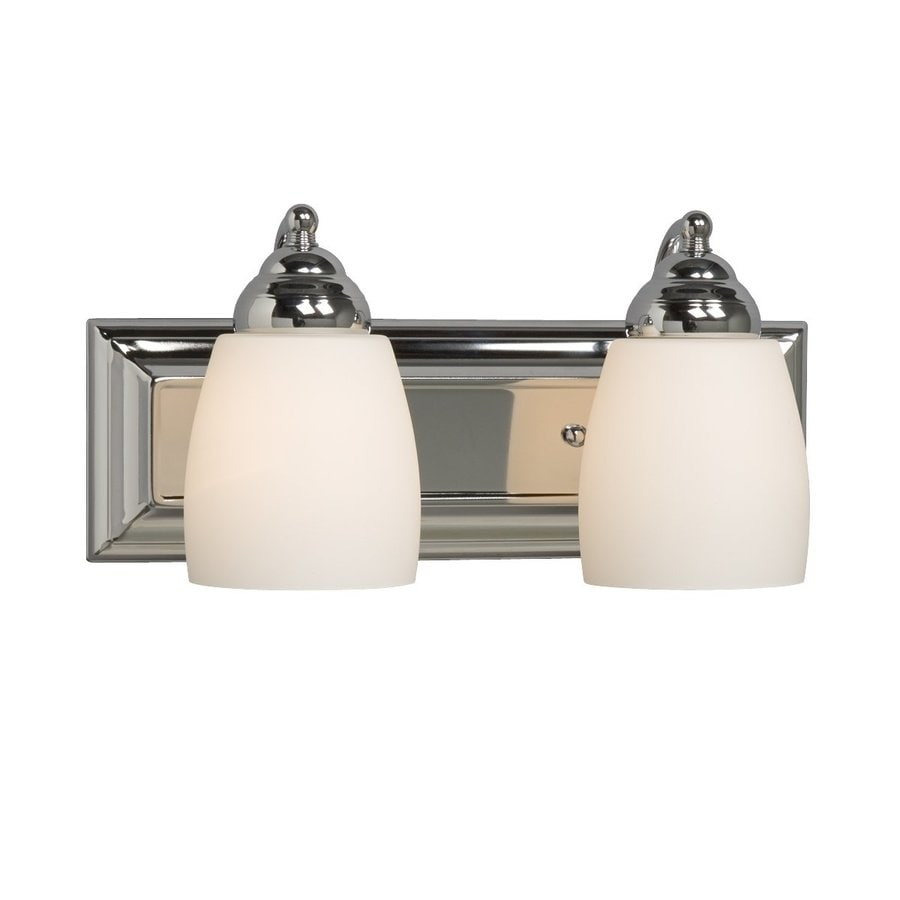 Galaxy Barclay 2-Light 6.75-in Polished Chrome Bell Vanity Light