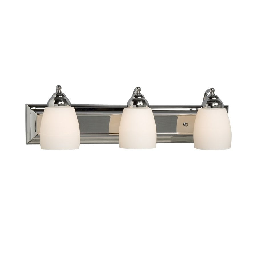 Galaxy Barclay 3-Light 6.75-in Polished Chrome Bell Vanity Light
