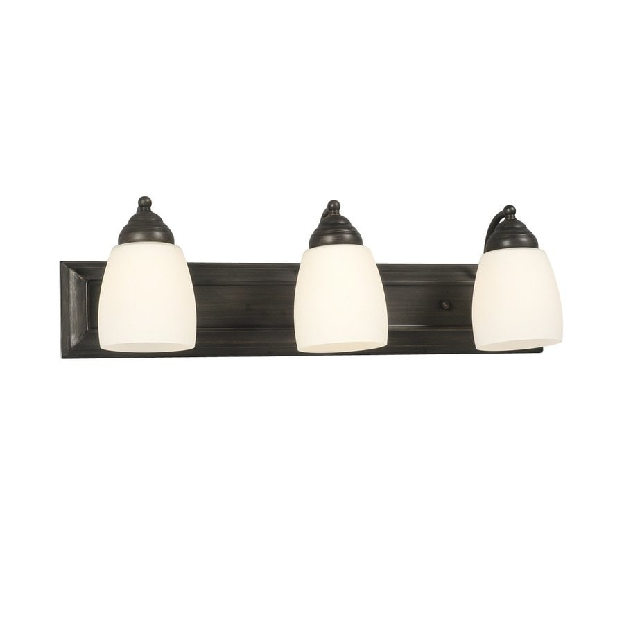 Galaxy Barclay 3-Light 6.75-in Oil-Rubbed Bronze Bell Vanity Light