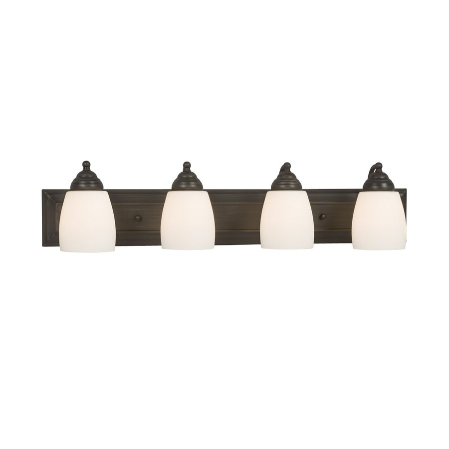 Galaxy Barclay 4-Light 6.75-in Oil-Rubbed bronze Bell Vanity Light