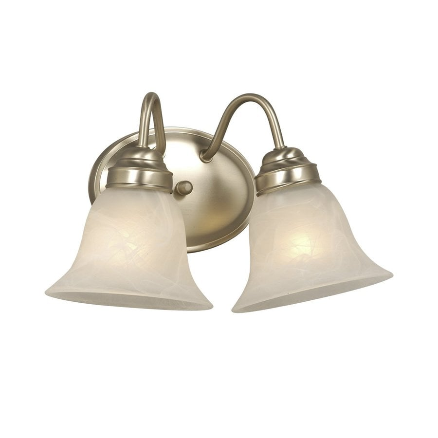 Galaxy 2-Light 8-in Pewter Bell Vanity Light