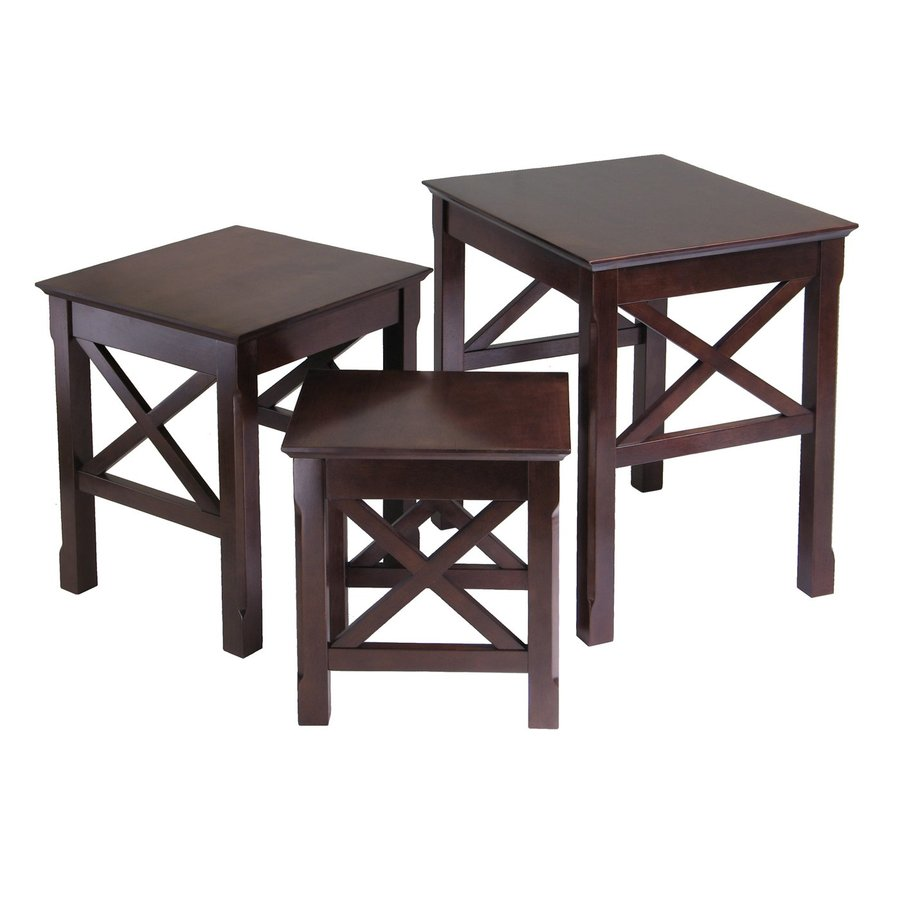 Winsome Wood Xola 3 Piece Cappuccino Accent Table Set