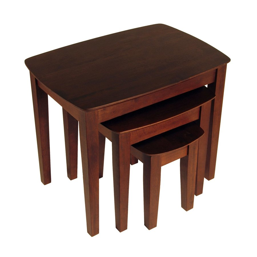 Winsome Wood 3-Piece Antique Walnut Accent Table Set