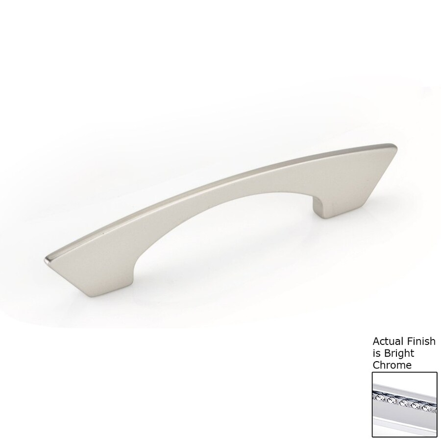 Topex Hardware 3-3/4-in Center-to-Center Bright Chrome Italian Designs Arched Cabinet Pull