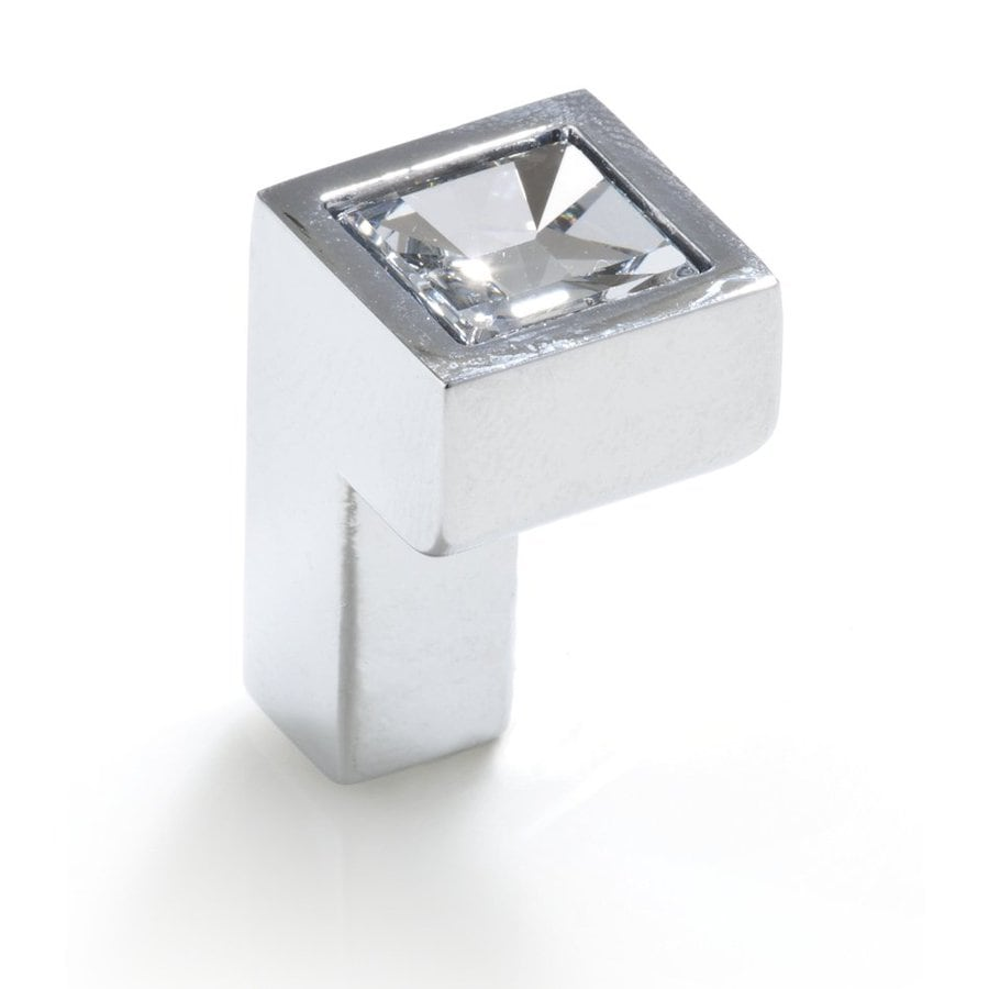 Topex Hardware Crystal Bright Chrome Rectangular Cabinet Knob