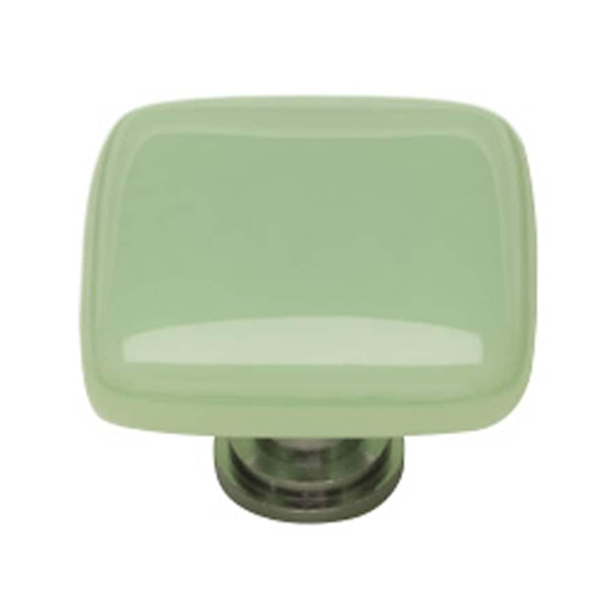 Sietto Intrinsic Mint/Oil-Rubbed Bronze Square Cabinet Knob