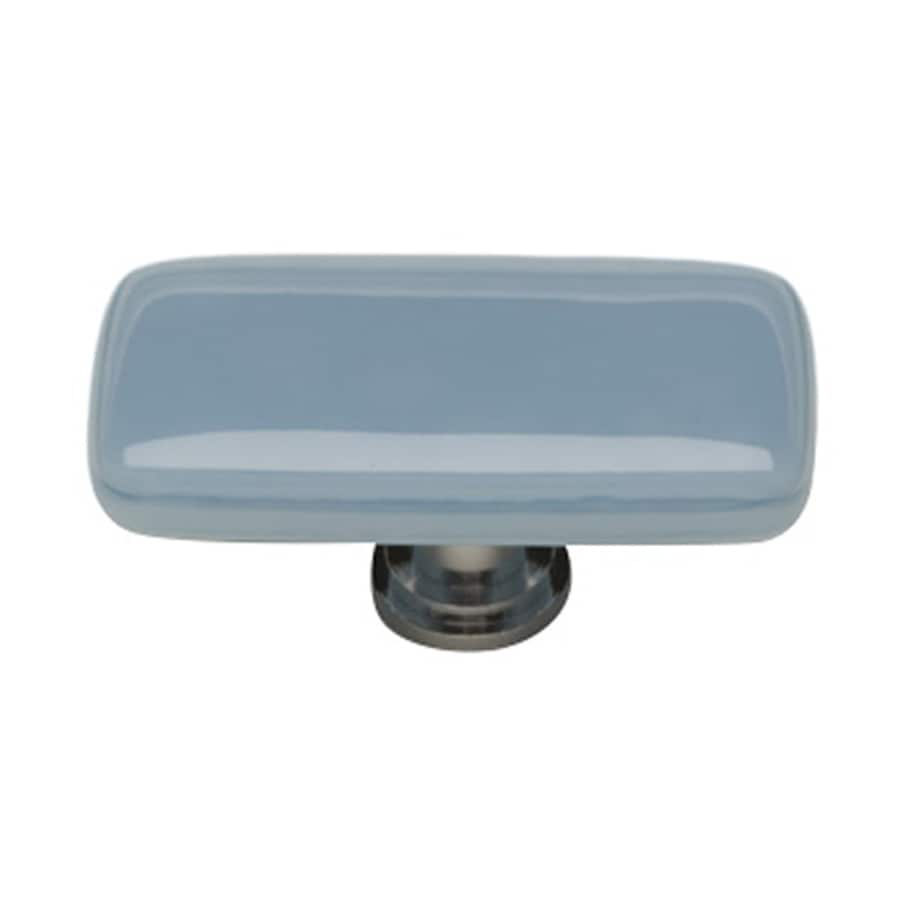Sietto Intrinsic Powder Blue/Oil-Rubbed Bronze Rectangular Cabinet Knob