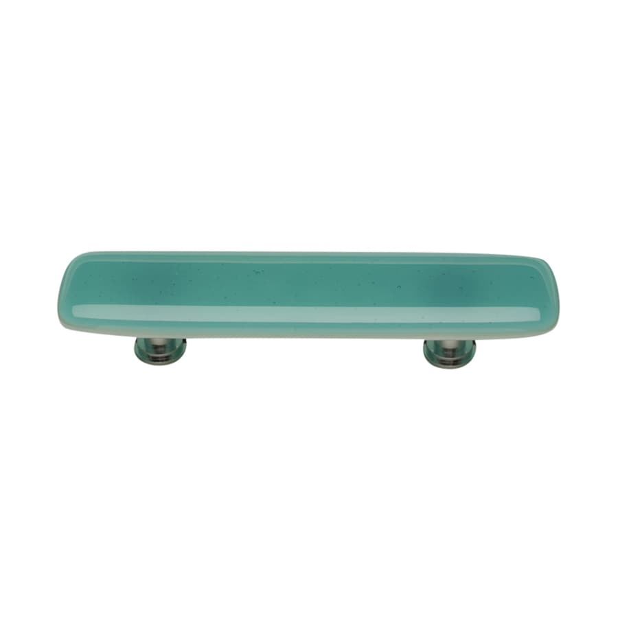 Sietto 3-in Center-To-Center Aqua/Polished Chrome Intrinsic Rectangular Cabinet Pull