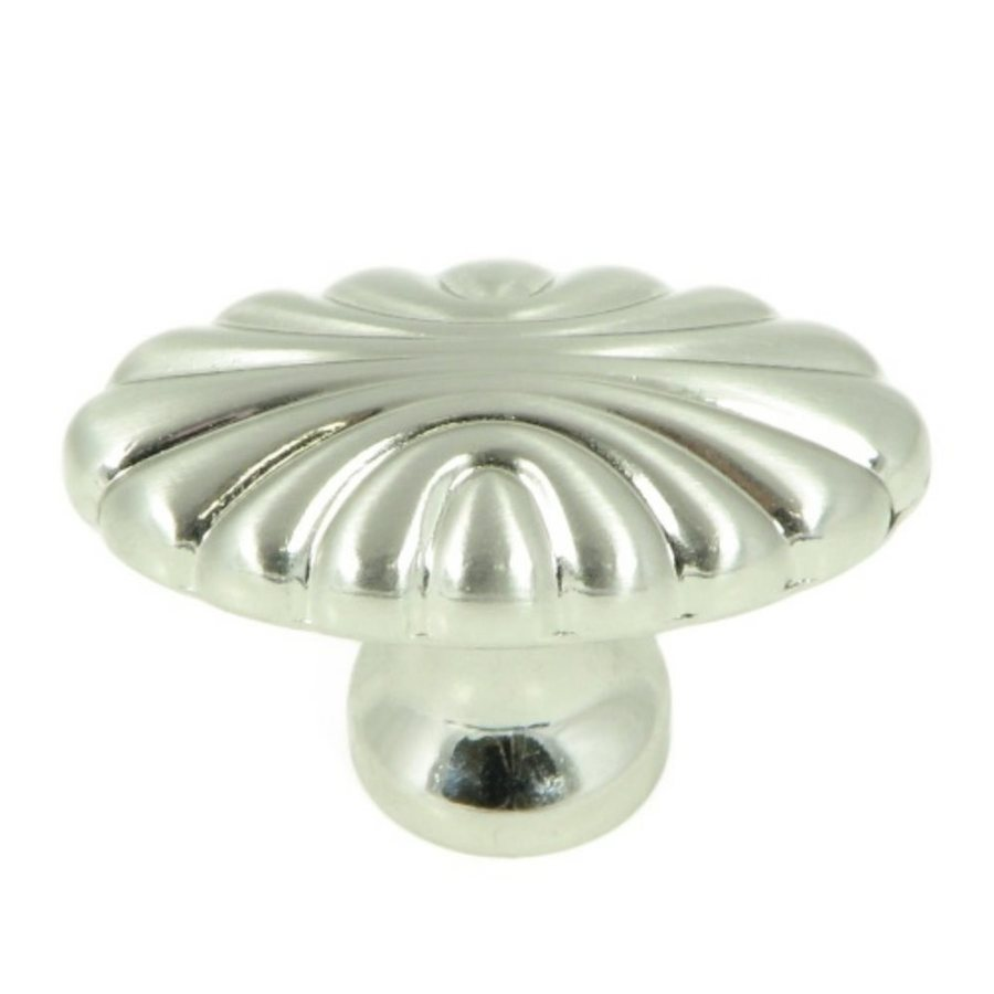 Stone Mill Hardware Tuscany Satin Nickel Oval Cabinet Knob