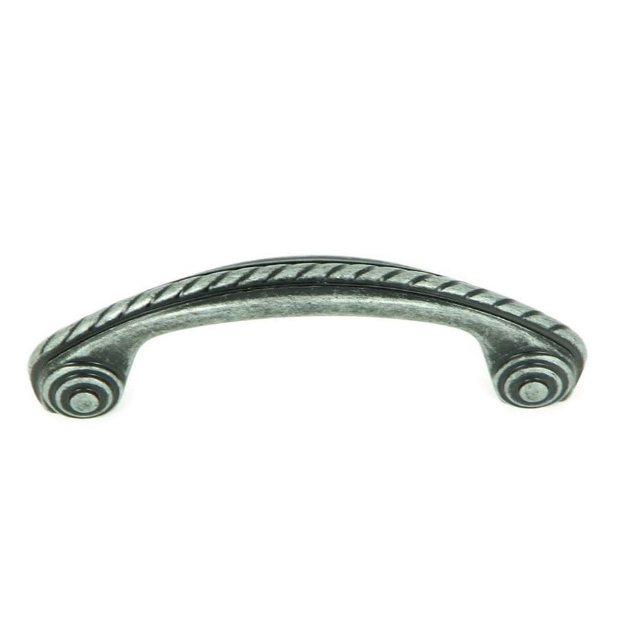 Stone Mill Hardware 3-in Center-to-Center Swedish Iron Palermo Arched Cabinet Pull