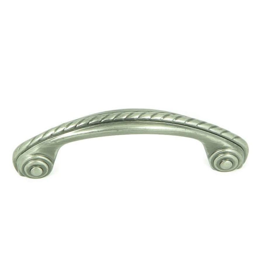 Stone Mill Hardware 3-in Center-to-Center Weathered Nickel Palermo Arched Cabinet Pull