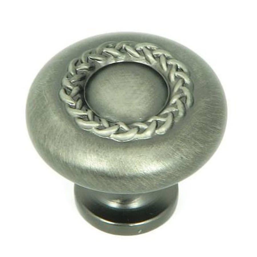 Stone Mill Hardware Rope Weathered Nickel Round Cabinet Knob