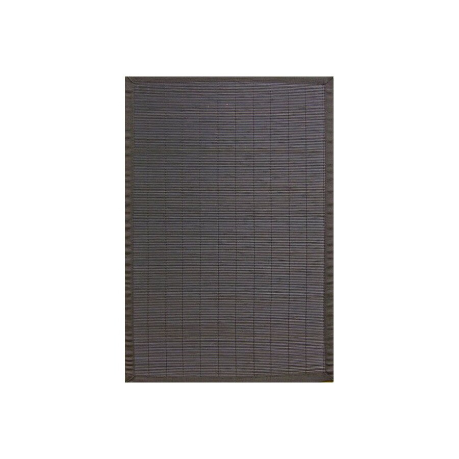 Anji Mountain Bamboo Rugs 48-in x 72-in Rectangular Multicolor Border Area Rug