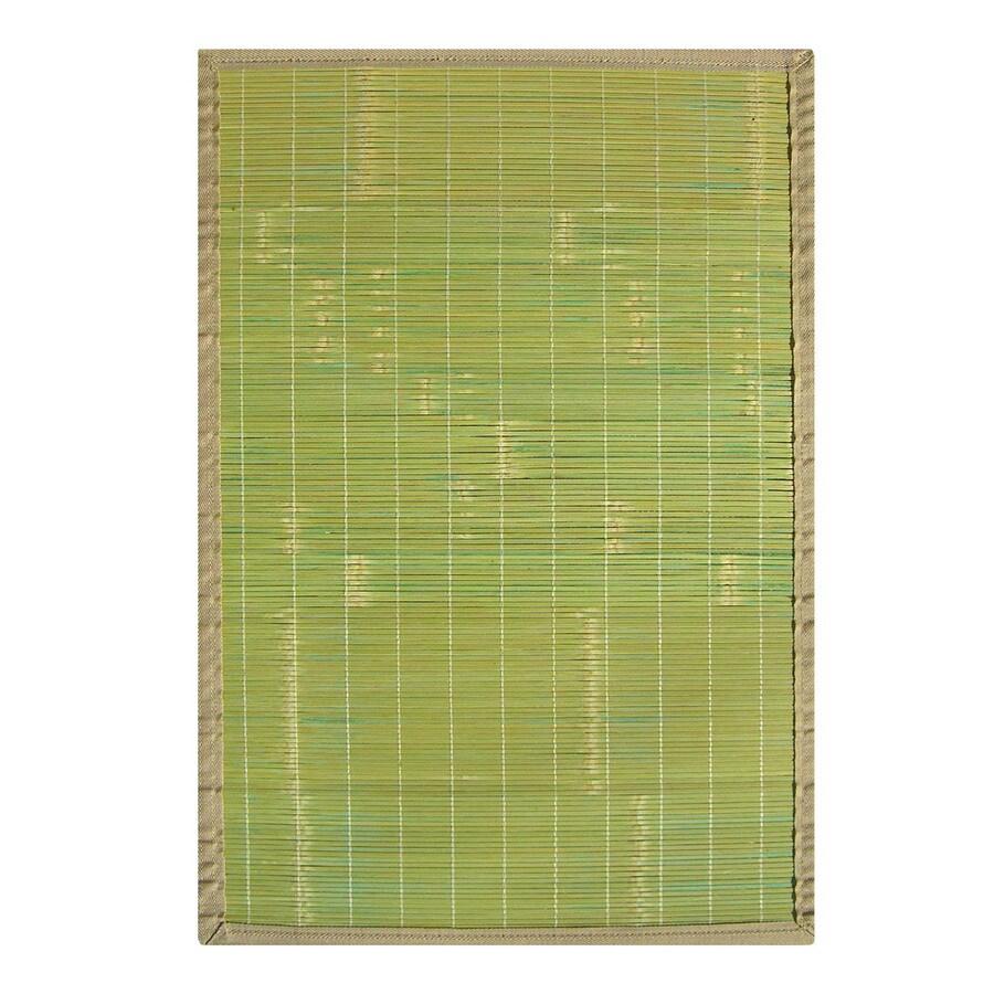 Anji Mountain Bamboo Rugs 24-in x 36-in Rectangular Multicolor Border Accent Rug