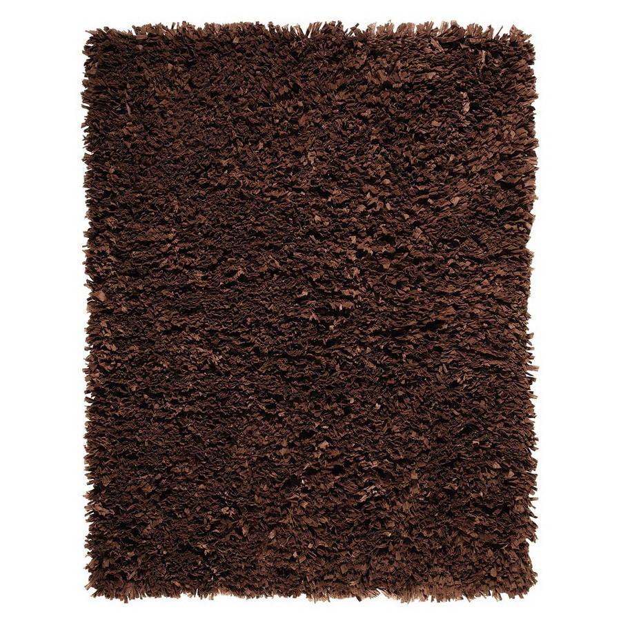 Anji Mountain Paper Shag 96-in x 120-in Rectangular Solid Area Rug