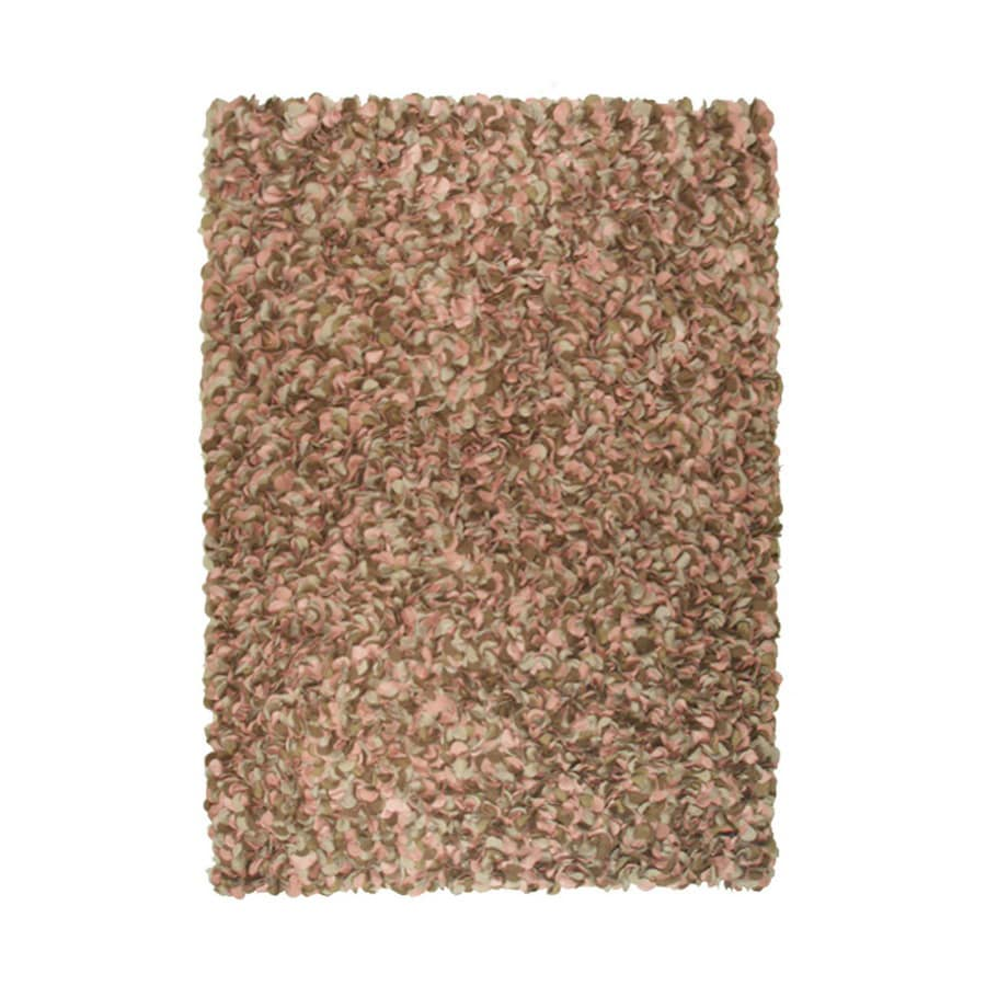 The Rug Market Shag Rectangular Brown Solid Area Rug (Common: 5-ft x 8-ft; Actual: 5-ft 3-in x 7-ft 7-in)