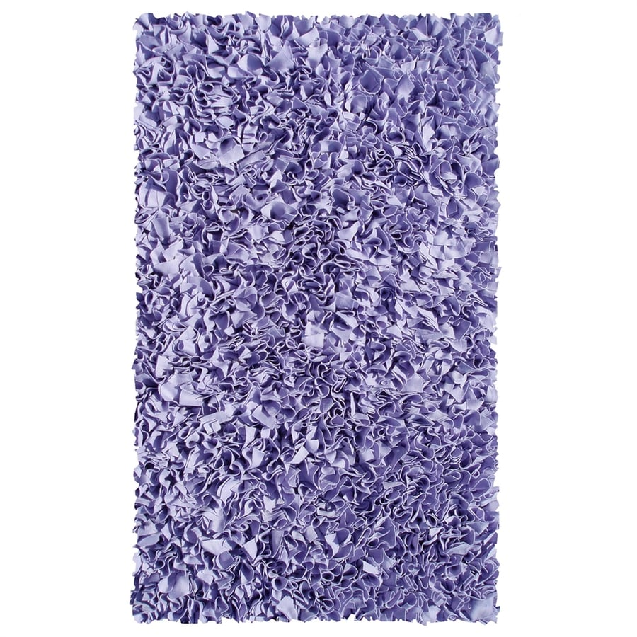 The Rug Market Shaggy Raggy Lavender Rectangular Indoor Shag Throw Rug (Common: 2 x 3; Actual: 22-in W x 34-in L)