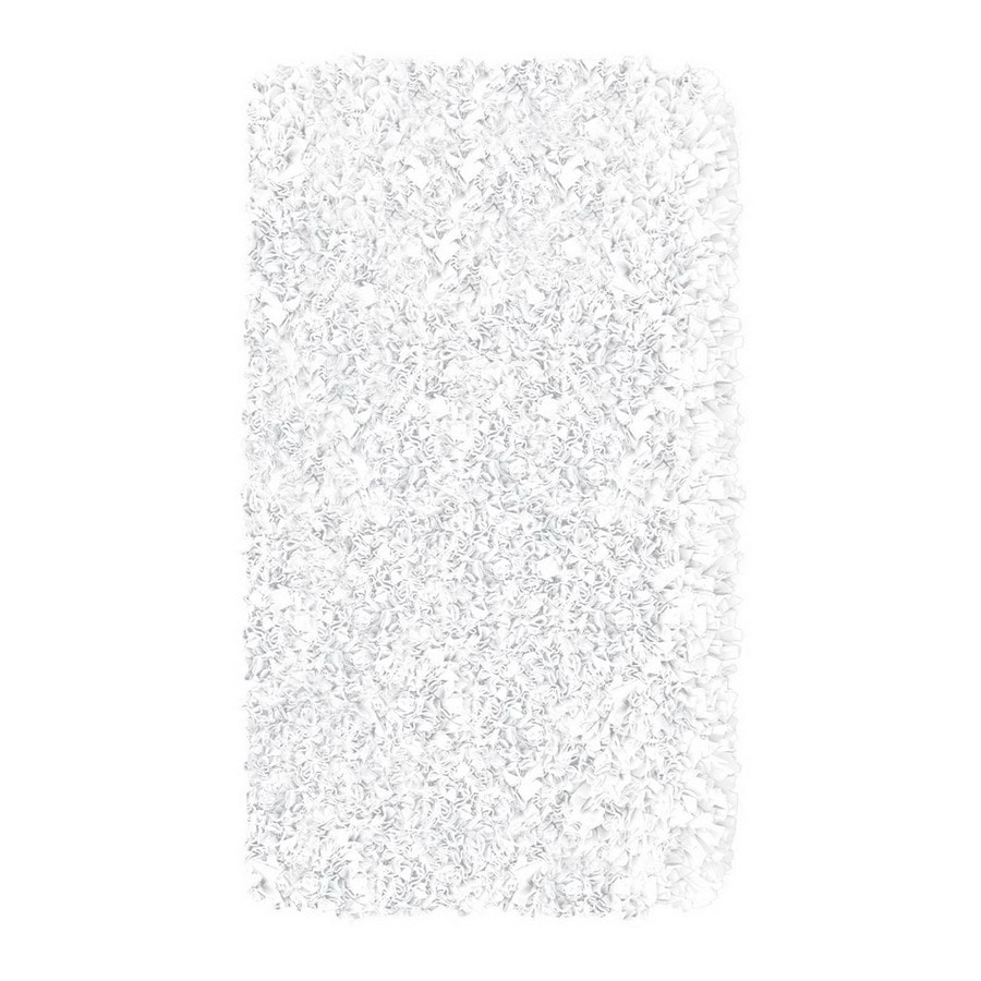 The Rug Market Kids Round White Solid Area Rug (Common: 4-ft x 4-ft; Actual: 4-ft x 4-ft)