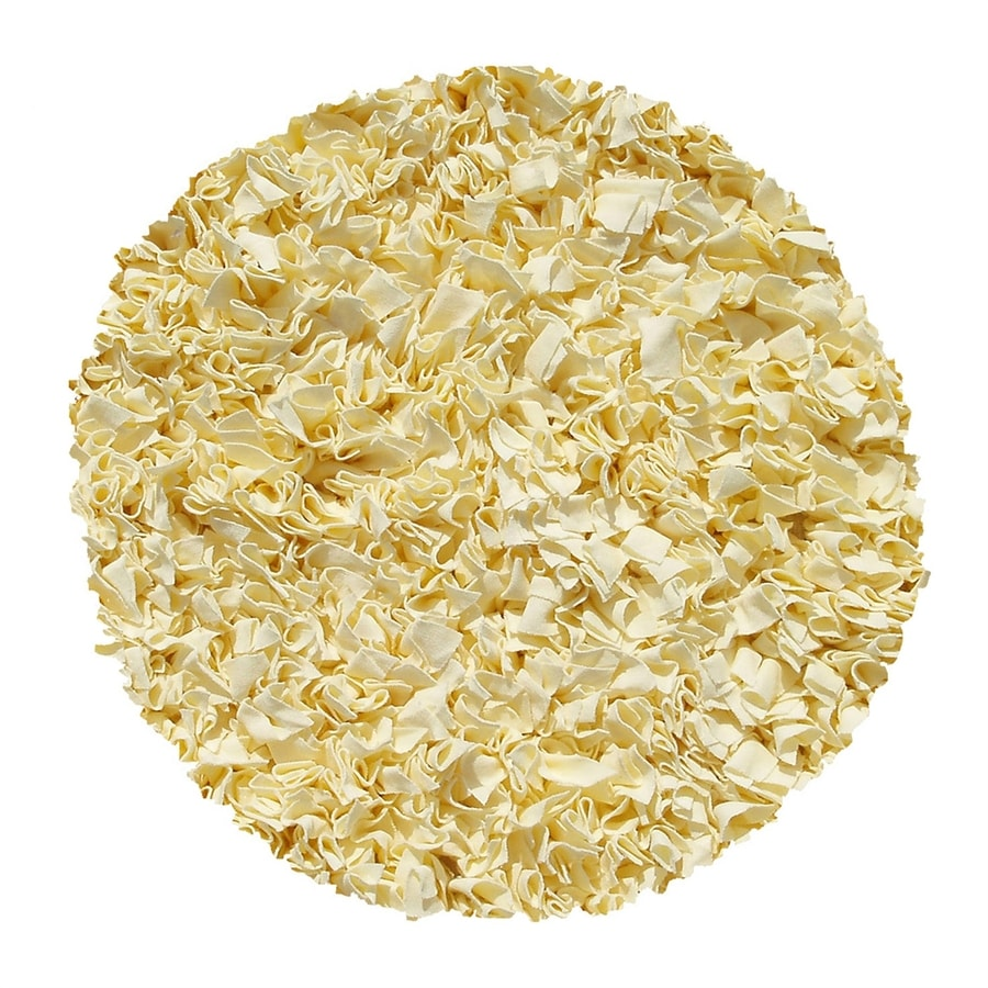 The Rug Market Shaggy Raggy Yellow Round Indoor Shag Area Rug (Common: 4 X