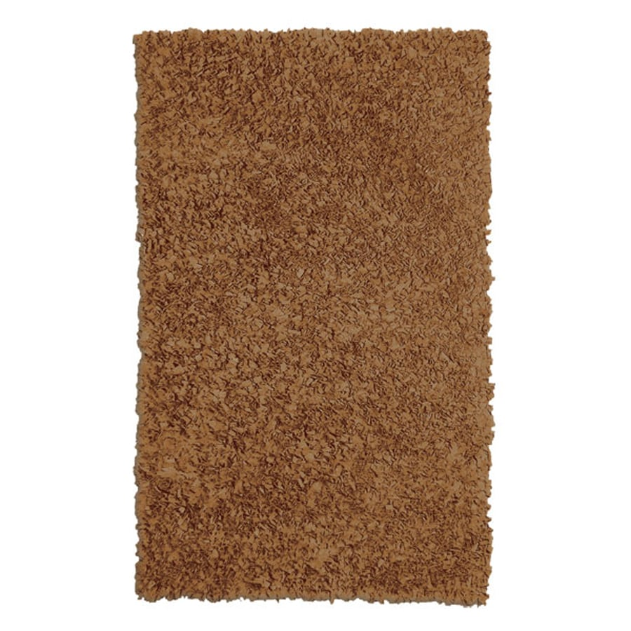 The Rug Market Shaggy Raggy Natural Rectangular Indoor Shag Throw Rug (Common: 2 x 3; Actual: 22-in W x 34-in L)