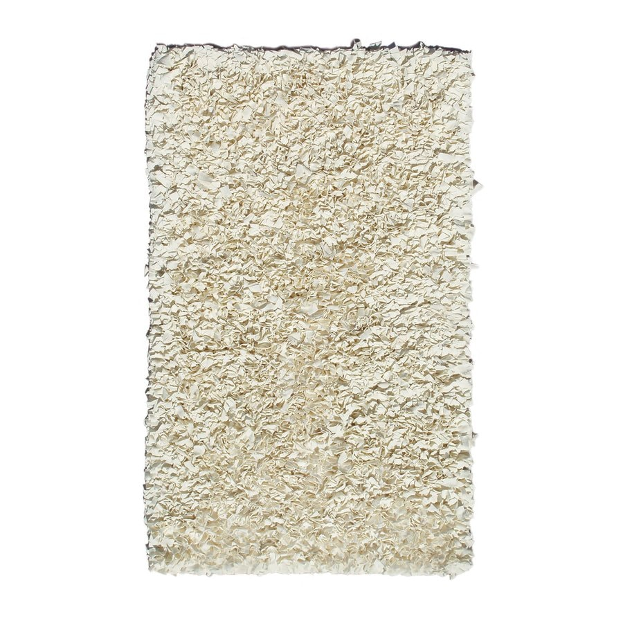 The Rug Market Shaggy Raggy Cream Rectangular Indoor Shag Throw Rug (Common: 2 x 3; Actual: 1.83-ft W x 2.83-ft L)