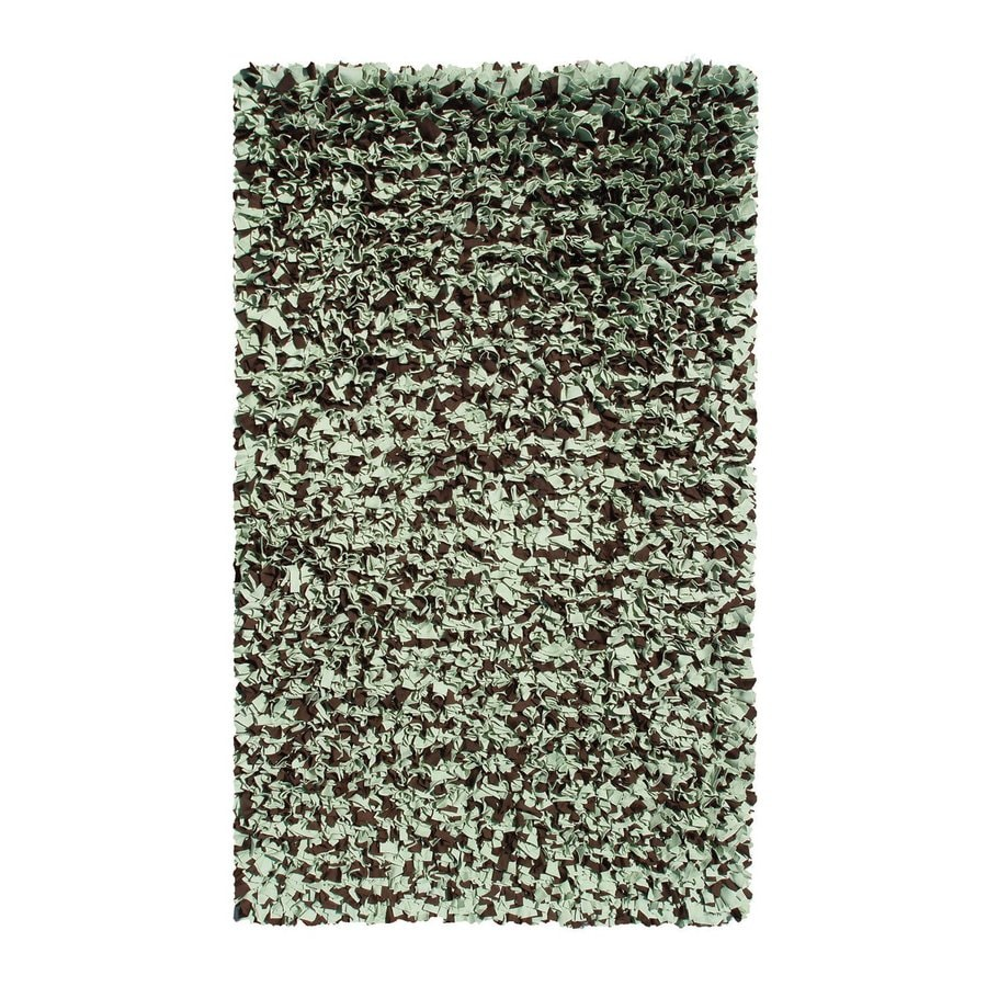 The Rug Market Shaggy Raggy Sage Brown Rectangular Indoor Shag Throw Rug (Common: 2 x 3; Actual: 22-in W x 34-in L)