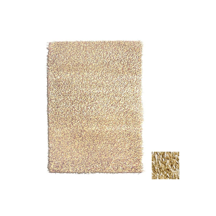 The Rug Market Shag 7-ft 9-in x 9-ft 9-in Rectangular Tan Solid Area Rug
