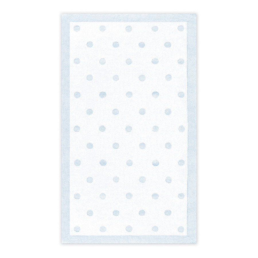 The Rug Market Kids Rectangular Blue Border Accent Rug (Common: 3-ft x 5-ft; Actual: 32-in x 56-in)