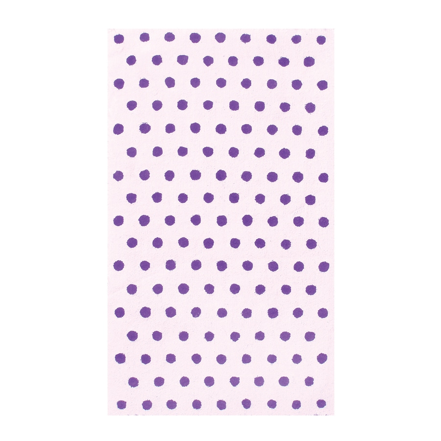 The Rug Market Fufu Dots Purple Rectangular Indoor Throw Rug (Common: 3 x 5; Actual: 2.67-ft W x 4.67-ft L)