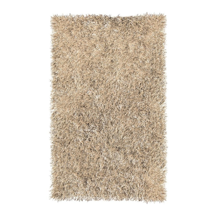 The Rug Market Resort Tan Rectangular Indoor/Outdoor Shag Area Rug (Common: 8 x 10; Actual: 8-ft W x 10-ft L)