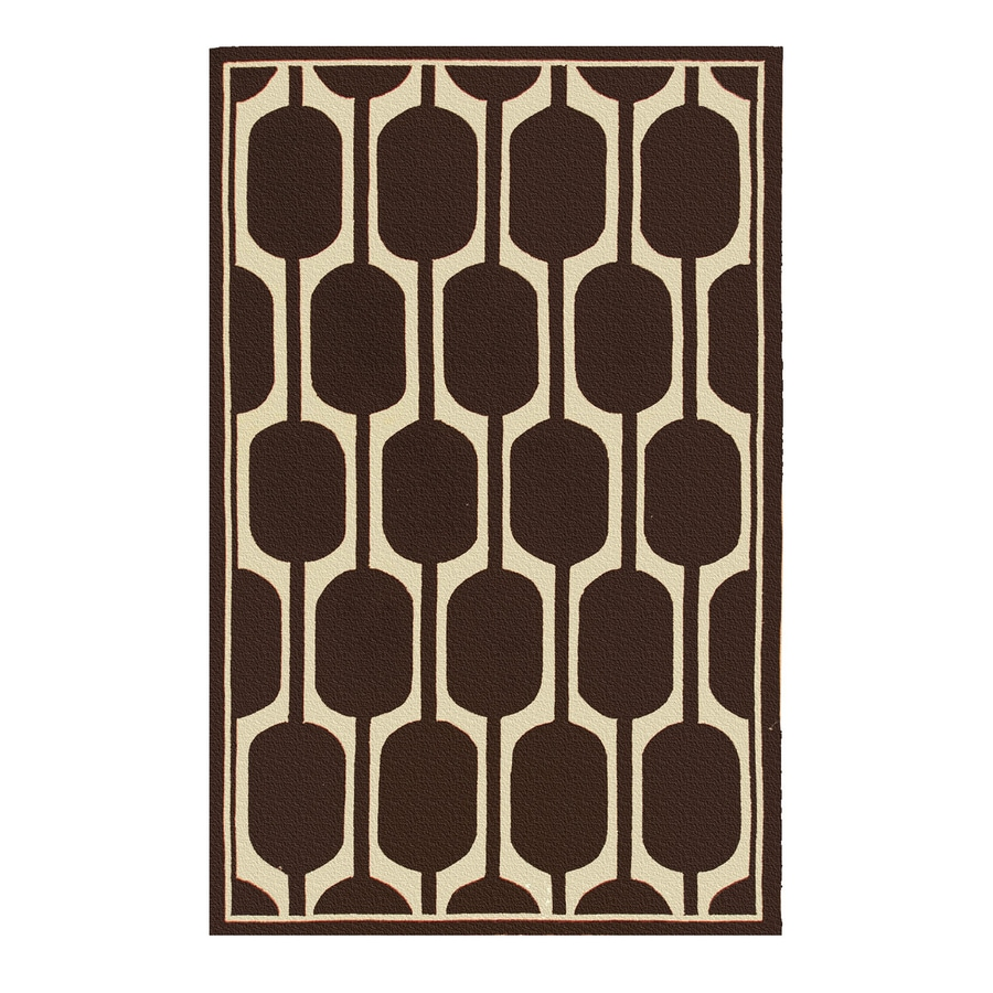 The Rug Market Resort Brown Rectangular Indoor/Outdoor Area Rug (Common: 8 x 10; Actual: 8-ft W x 10-ft L)