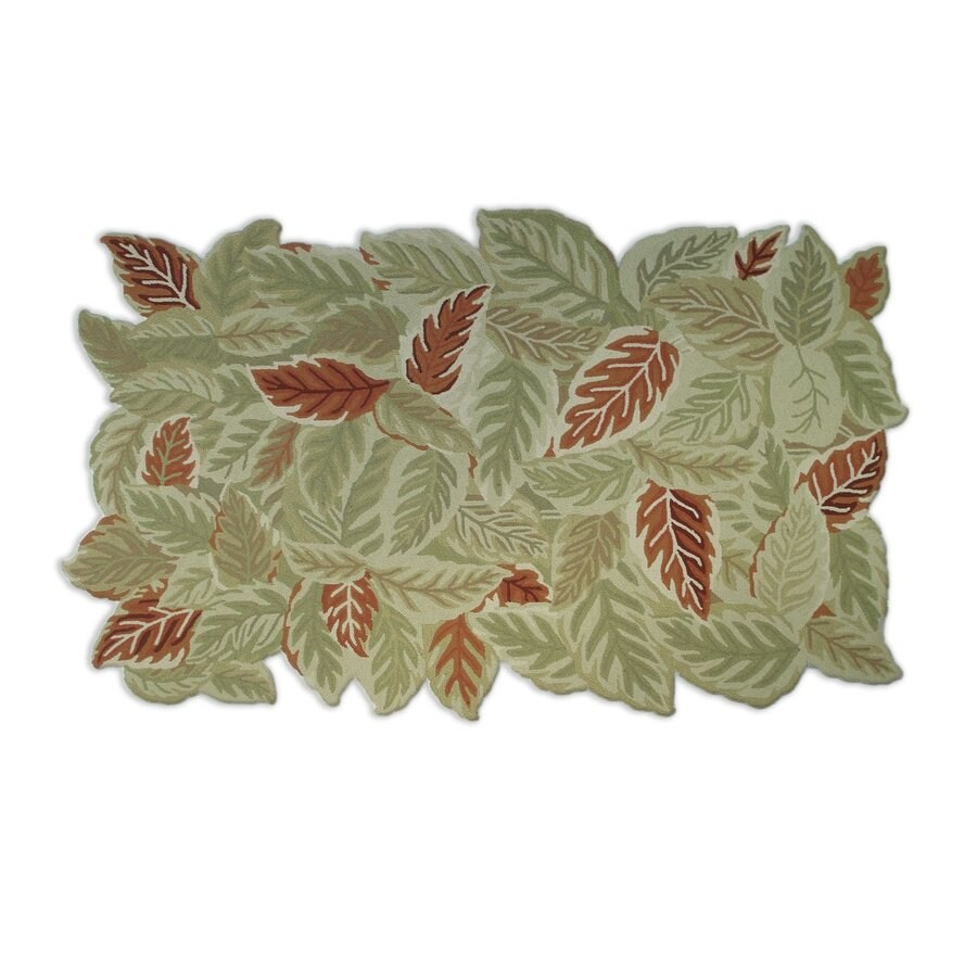 The Rug Market Garden Green Rectangular Indoor/Outdoor Nature Area Rug (Common: 8 x 10; Actual: 8-ft W x 10-ft L)
