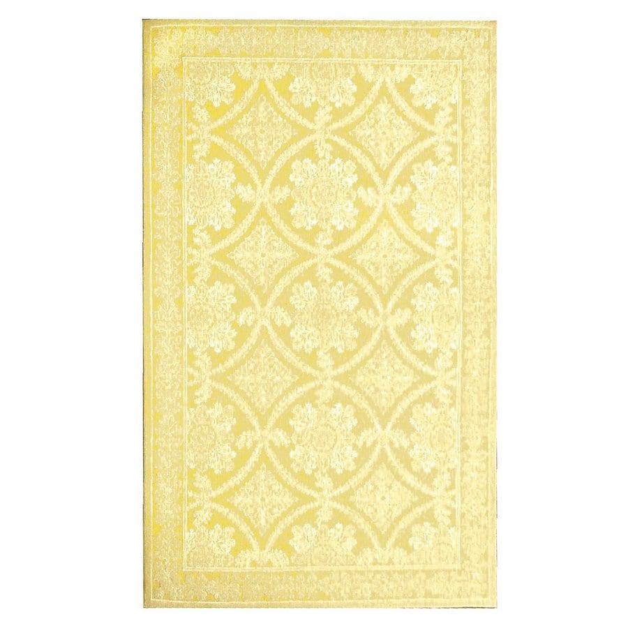 The Rug Market Romantic Lace Yellow Rectangular Area Rug (Common: 8 x 10; Actual: 93-in W x 117-in L)