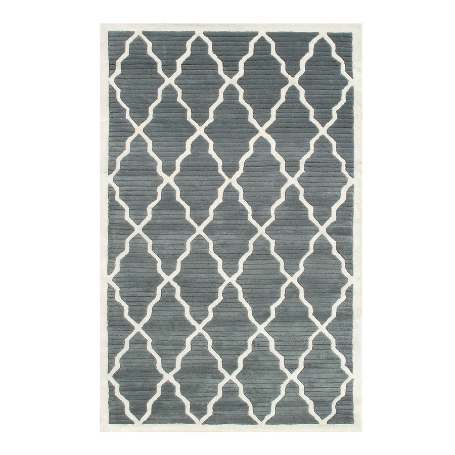 The Rug Market Pemberly Grey/Ivory Rectangular Indoor Tufted Area Rug (Common: 10 x 13; Actual: 10-ft W x 13-ft L)