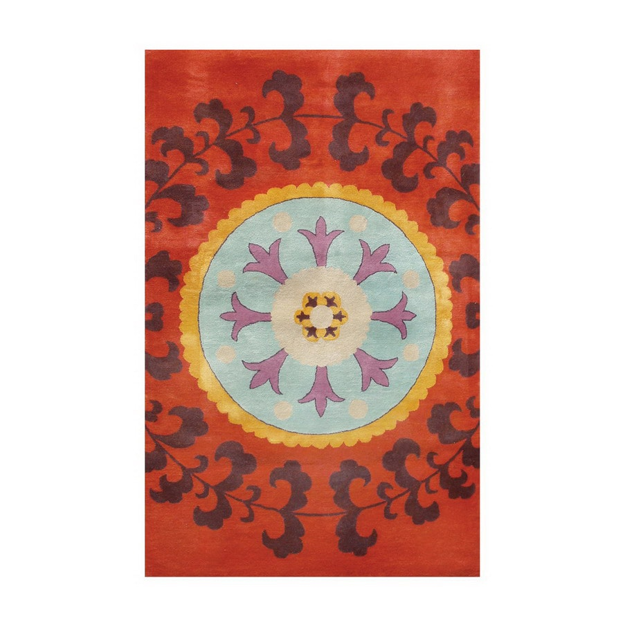 The Rug Market Camden Rectangular Multicolor Transitional Wool Area Rug (Common: 8-ft x 11-ft; Actual: 8-ft x 11-ft)