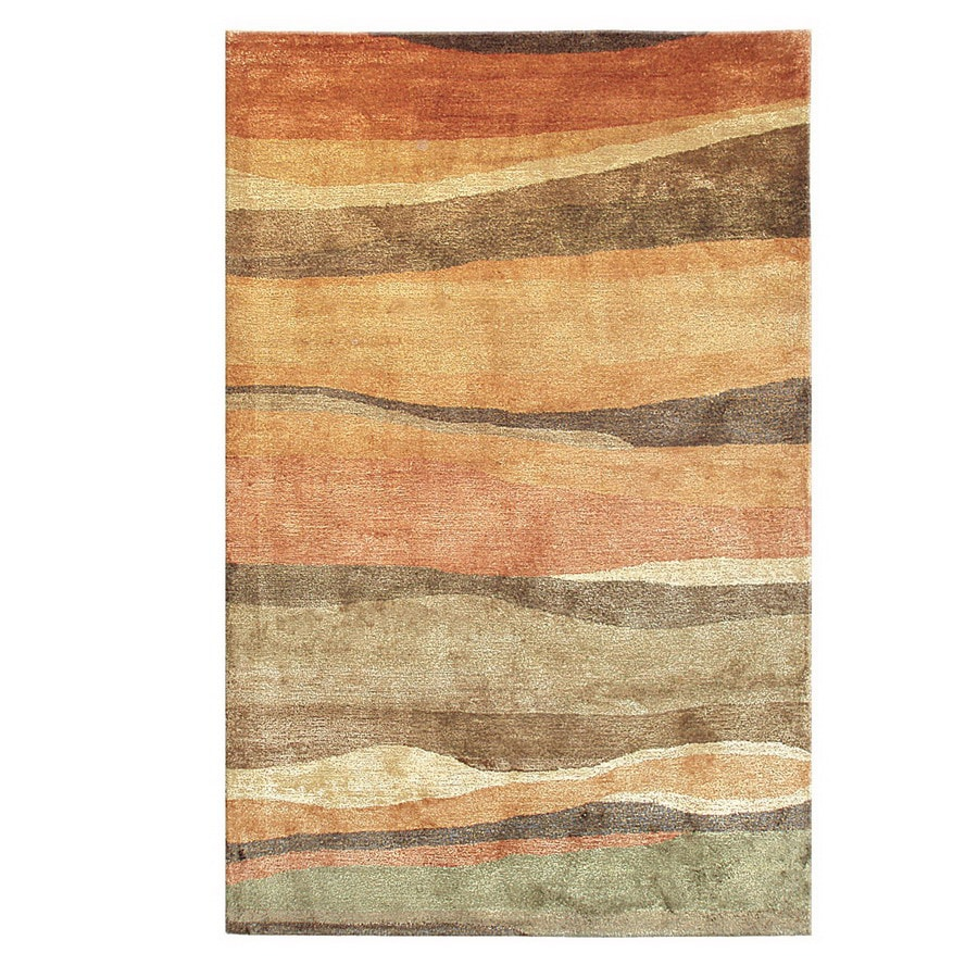 The Rug Market Camden 5-ft x 8-ft Rectangular Multicolor Transitional Wool Area Rug